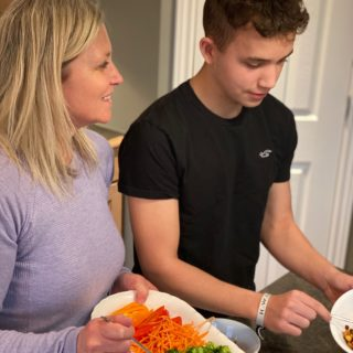 meal prep with teenage son